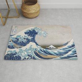 Under the Wave off Kanagawa Japanese Art Rug