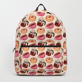 Coffee Donut Percolator Pattern Backpack
