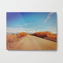 Open Road Vintage Metal Print
