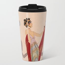 "Art Deco Illustration ""The Duel"" by Erté Travel Mug"