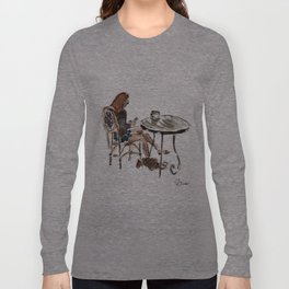 Coffee in Rice Village Long Sleeve T-shirt