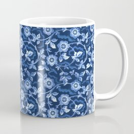 Blue floral pattern Coffee Mug