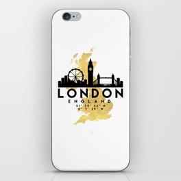 LONDON ENGLAND SILHOUETTE SKYLINE MAP ART iPhone Skin