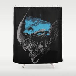 On A Dark Moon. Shower Curtain
