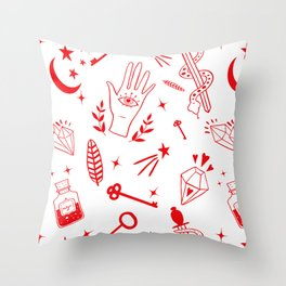 Magic symbols Throw Pillow