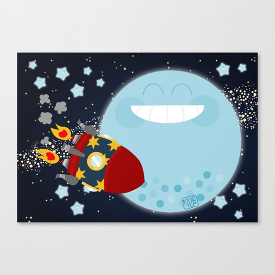 Le Voyage dans la Lune Canvas Print