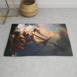 The Storm On The Sea Of Galilee Painting By Rembrandt Rug
