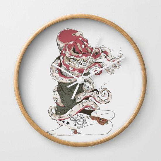 My head is an octopus Wall Clock