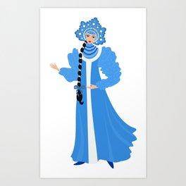 Beautiful Snow Maiden Art Print