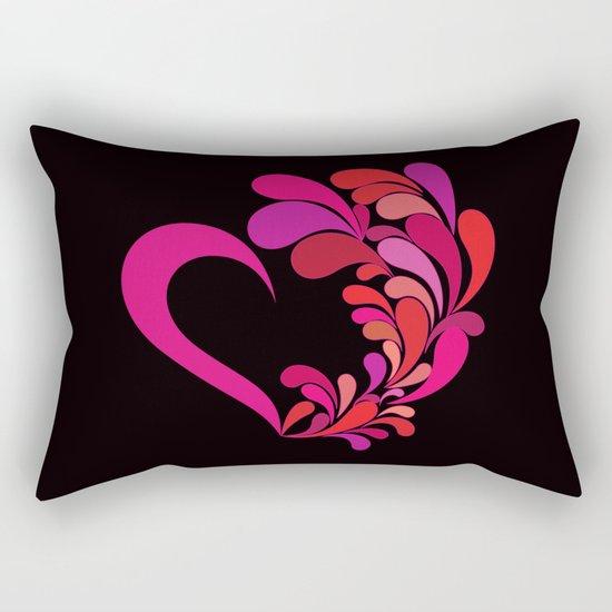 Colored heart Rectangular Pillow