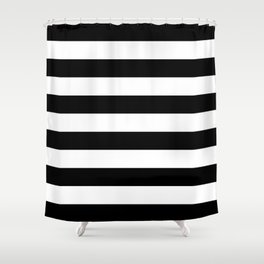 Abstract Black and White Stripe Lines 6 Shower Curtain