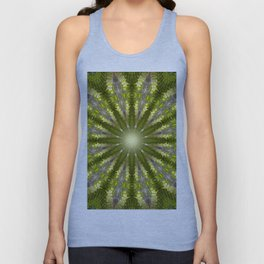 Ancient Forest Mandala (green) Unisex Tank Top
