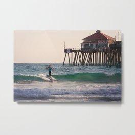 Ballerina Surfer Metal Print