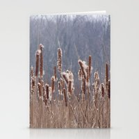 furry Stationery Cards featuring Furry Cattails by DanByTheSea
