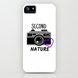 Photography second nature camera  iPhone Case