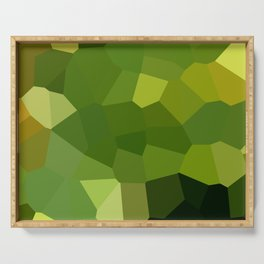 Green and pointy grow the pixel leaves Serving Tray
