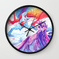 mlp Wall Clocks featuring MLP by Cari Corene