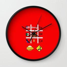 #Drug Wall Clock