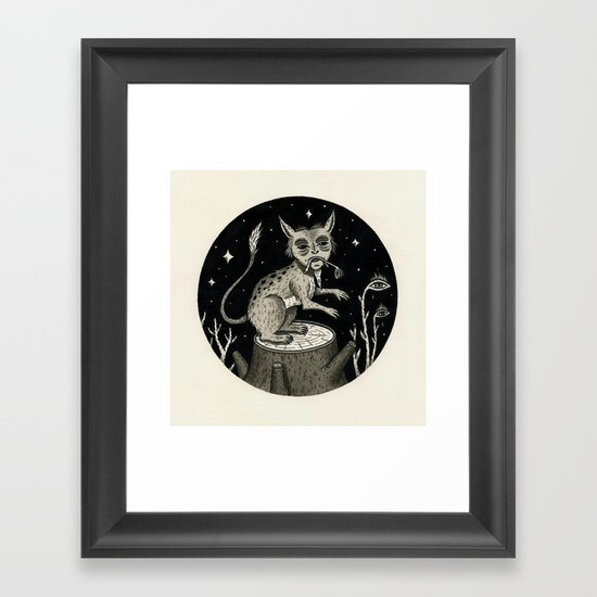 Caught Snacking Framed Art Print