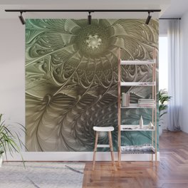 Togetherness, Fractal Art Abstract Wall Mural