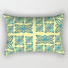 Fresco Flowers Rectangular Pillow
