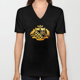 Cabot Gold Embossed Collection Unisex V-Neck