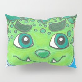 Young Goblin with stuffed dog Pillow Sham