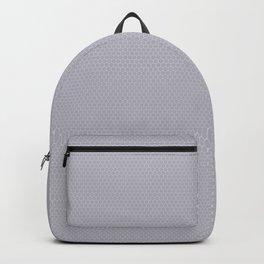Pantone Lilac Gray Small Honeycomb Pattern Backpack