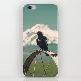 Mt. Jefferson Raven iPhone Skin