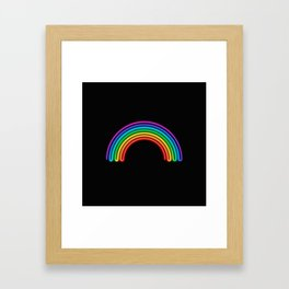 Neon Rainbow Framed Art Print