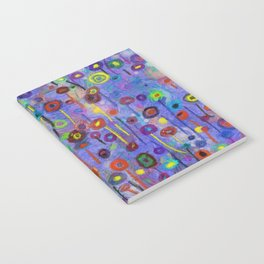 Abstract Flowers Wild Notebook