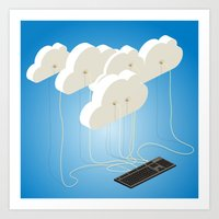 cloud computing Art Print