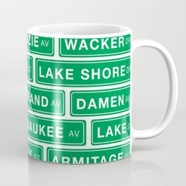 Famous Chicago Streets // Chicago Street Signs Coffee Mug