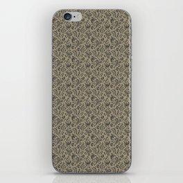 Floral Swirls Pattern in Pantone Beluga & Twill iPhone Skin
