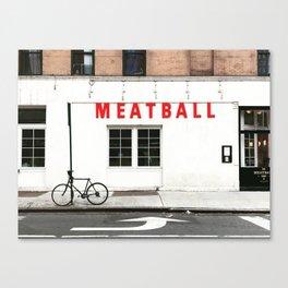 Meatball Shop NYC Canvas Print
