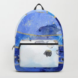 Fish in the Sky Surreal Dream Painting Backpack
