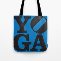 yoga Tote Bags featuring YoGA by CGould
