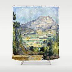 1890 - Paul Cezanne - Montagne Saint-Victoire Shower Curtain