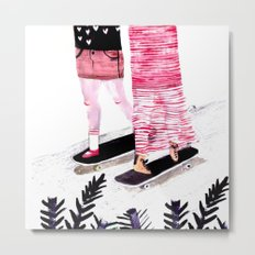 I Only Skate With People Who Are As Bad As Me (So We Can Hold Hands) Metal Print