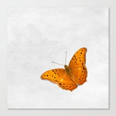 Butterfly and ghost on textured white Canvas Print