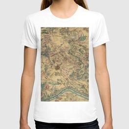 Vintage Antietam Battlefield Map (1862) T-shirt