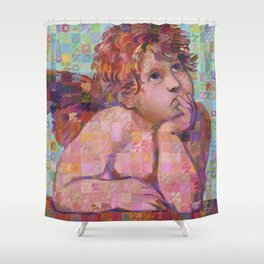 Sistine Cherub No. 1 Shower Curtain