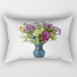 Floral Blue Vase Rectangular Pillow