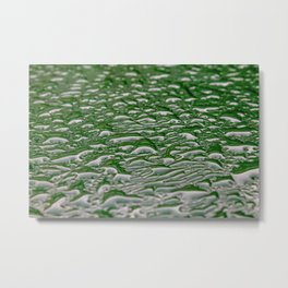 Abstract pattern made from rain droplets. Metal Print