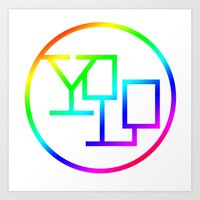 yolo Art Prints featuring Yolo  by Office Party