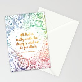 What we do for others - rainbow Stationery Cards