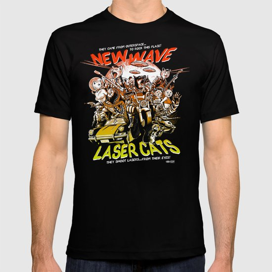 New Wave Laser Cats T-shirt