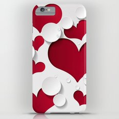 3D Hearts Slim Case iPhone 6 Plus