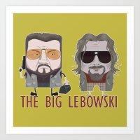 the big lebowski Art Prints featuring The Big Lebowski by Francesco Dibattista