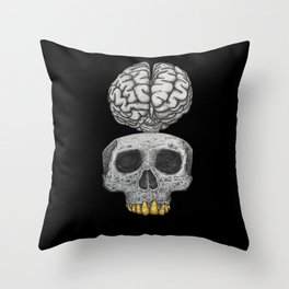 Losing my mind (black background) Throw Pillow